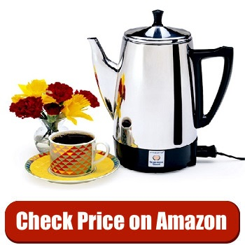 Presto 02811 12-Cup Stainless Steel Coffee Maker under $50