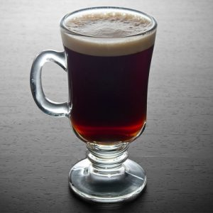 irish coffee is a cocktail with whishky, brandy or liqueur