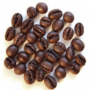 oval-shaped bean with one-sided crack is Peaberry Coffee bean