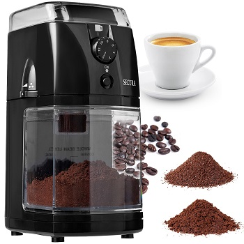Secura SCG-903B Automatic Electric Burr Coffee Grinder