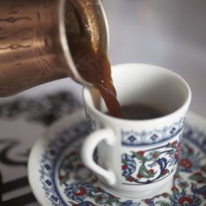 Turkish Coffee is made using finely grounded coffee beans