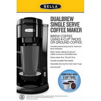 Bella Dual Brew Single Serve Coffee Maker Features