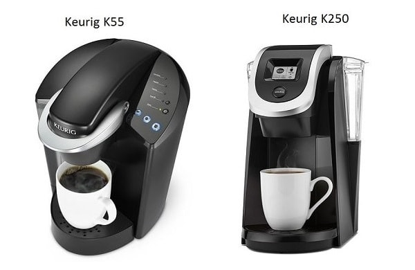 Keurig K55 vs K250 Model Comparison 2017
