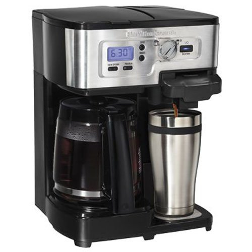 prepare single cup coffee as well as 12 cup carafe coffee