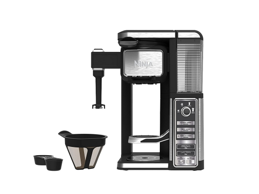 Single-Serve, Pod-Free Ninja Coffee Maker Bar with built-in frother under $200