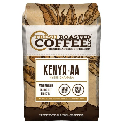 Kenya AA Nyeri Ichamara Whole Beans, Fresh Roasted Coffee